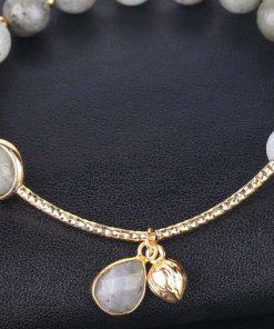 Bracelet labrodorite grise femme