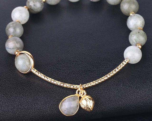 code promo a4e8d 3da22 Bracelet Labradorite pour Femme Bijoux Chic