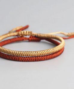 Pack 2 Bracelets Tibétain Bouddhiste Porte Bonheur