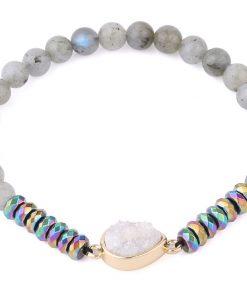 Bracelet Labradorite et spectrolite