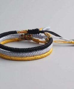 Kit 3 Bracelets Tibétain or argent noir