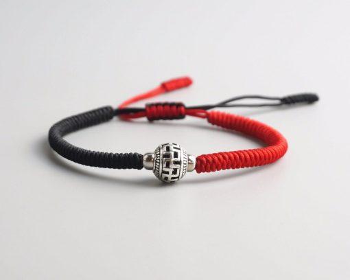 Bracelet svastika tibétain