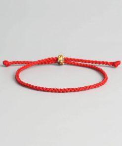 Bracelet en Coton Tibétain traditionnel