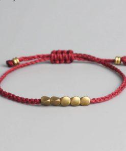 Bracelet Tibetain en cuivre rouge