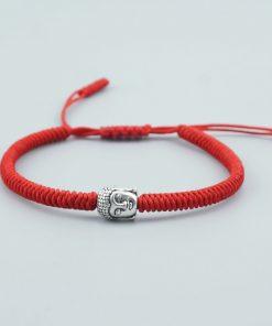 Bracelet Bouddhiste porte bonheur Tibétain tête bouddha traditionnel