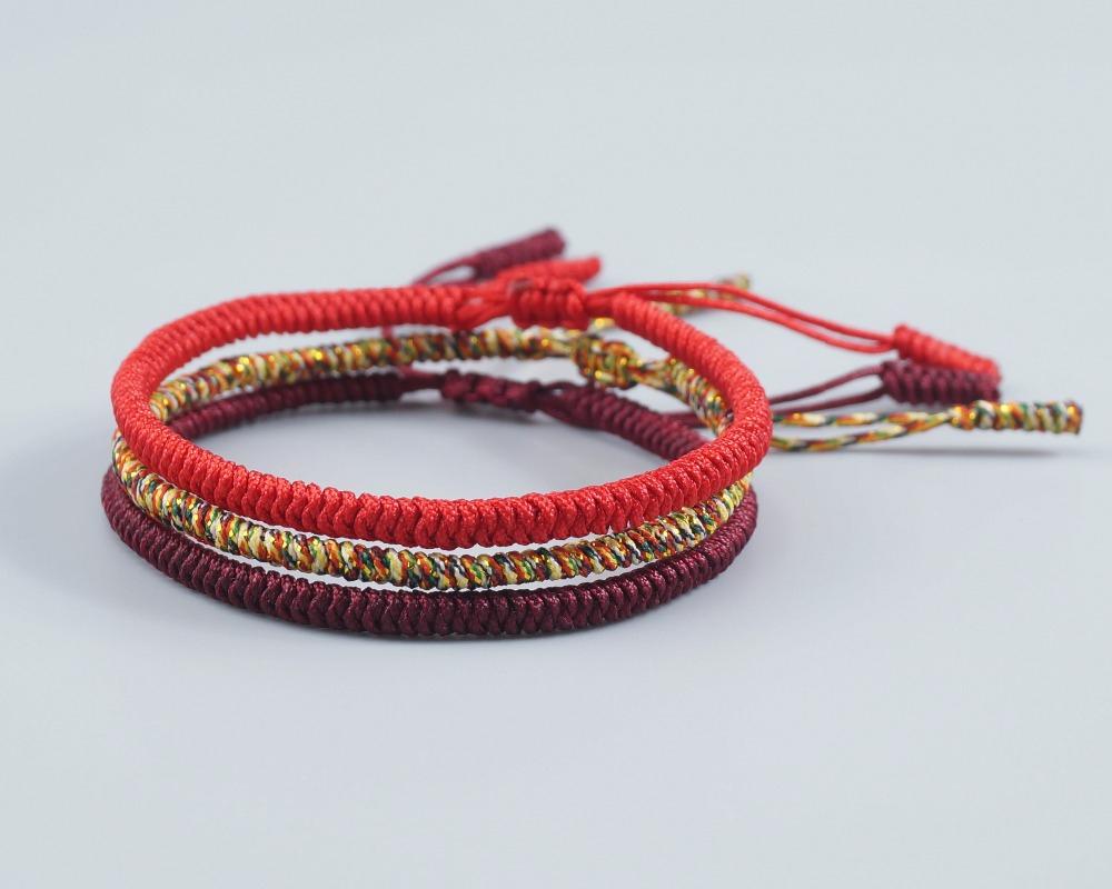 en gros haute couture chaussures authentiques Promo Pack 3 Bracelets Tibétain Bouddhiste porte bonheur