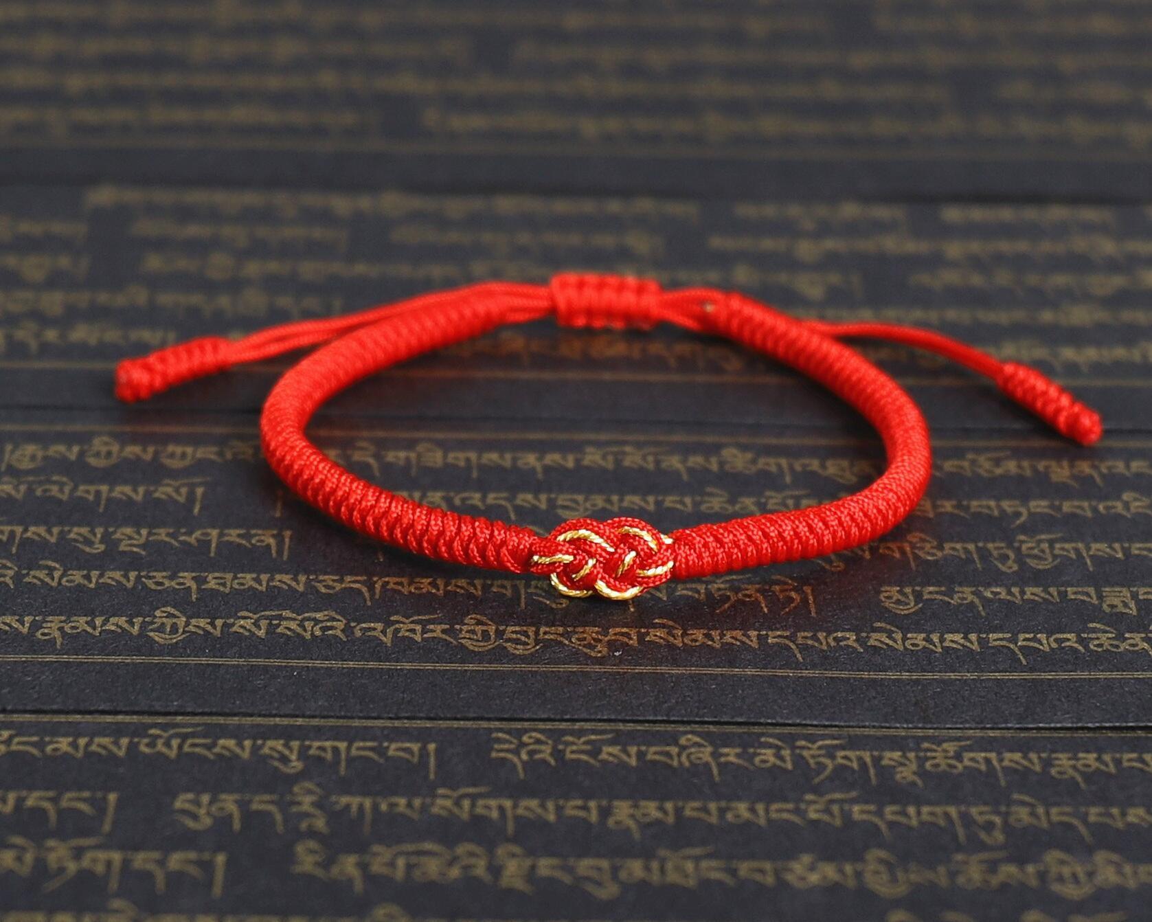 Bracelet Spirituel Tibétain rouge