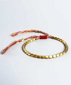 Bracelet perle de cuivre tibétain