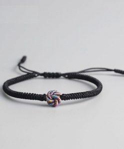 Bracelet Tibetain Bouddhiste à Nœud Porte Bonheur