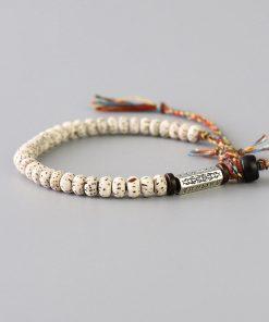Bracelet tibétain bouddhiste avec graines de Bodhi